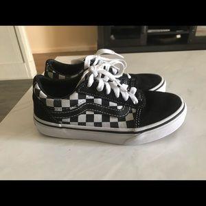 Kids Vans black/white checkered